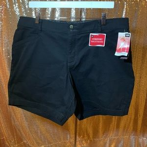 Lee Jeans Black Shorts 18 W Comfort Fit Waistband